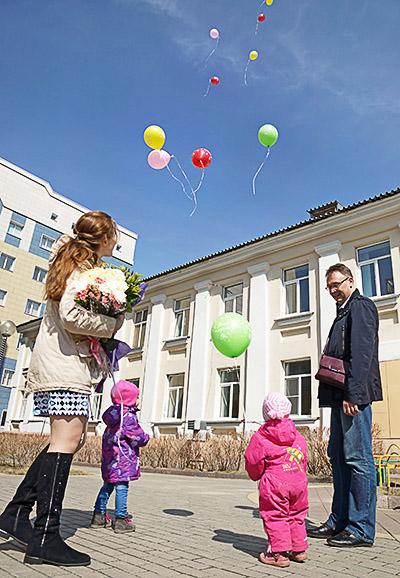 Фотосъемка выписка из роддома в Кемерово